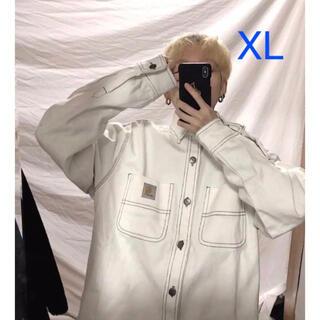 カーハート(carhartt)の新品♡カーハート ジャケット デニムジャケット白 ホワイトXL(Gジャン/デニムジャケット)