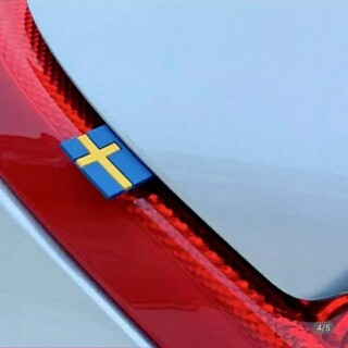 ボルボ スウェーデン国旗 ラバー