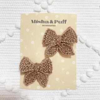 Bonpoint - misha&puff ヘアアクセサリー ミーシャアンドパフ リボンクリップ