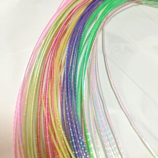 水引 素材 パステル パール系 7色 10本 計70本 アクセサリー作りに(ヘアアクセサリー)