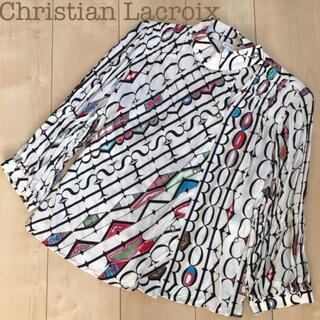 Christian Lacroix - Christian Lacroix 総柄レーヨンプリントシャツ白 38ブラウス