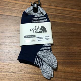 ザノースフェイス(THE NORTH FACE)の②ノースフェイス THE NORTH FACE ランニングソックス紺 新品XS(ウェア)