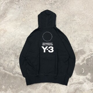 Y-3 - Y-3 Stacked logo hoodie パーカー 黒 M