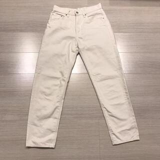 UNIQLO - UNIQLO レギュラーフィットテーパードジーンズ(丈標準73~76cm)
