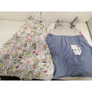 H&M - H&M 4〜5歳 ワンピースとジャンパースカート