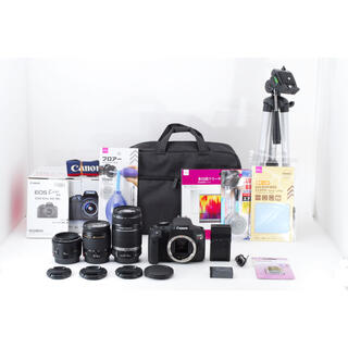 Canon - 美品 canon kiss x 8i  標準&望遠&単焦点トリプルレンズセット