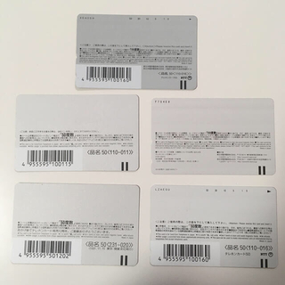 エヌティティドコモ(NTTdocomo)の未使用テレホンカード 50度数×5枚(その他)