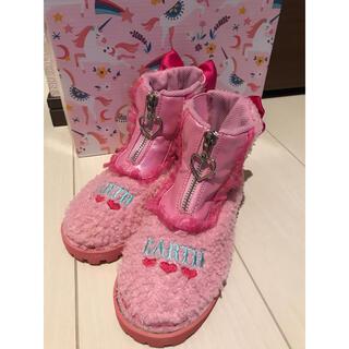 EARTHMAGIC - ここたま様専用クーポン待ち中 アースマジック ショートブーツ 20cm ピンク