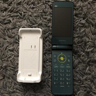 キョウセラ(京セラ)のGRATINA2 3G 携帯 グリーン(携帯電話本体)
