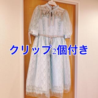 Angelic Pretty - Shanghai dollワンピース  サックス クリップ2個セット