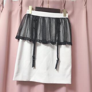 アンクルージュ(Ank Rouge)のイーハイフンワールドギャラリーボンボン♡スカート ピンク(ひざ丈スカート)