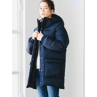 coen - coen(コーエン)フードロングダウンジャケットコート