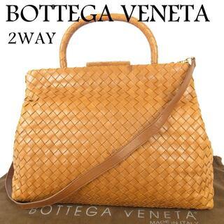 Bottega Veneta - ボッテガヴェネタ イントレチャート がま口 2WAY ショルダー ハンド バッグ