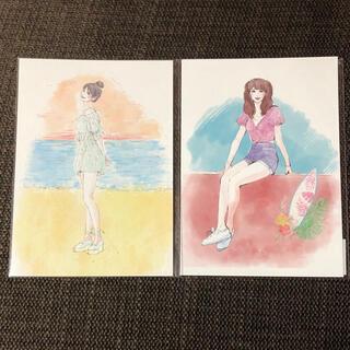 ウェストトゥワイス(Waste(twice))の【最終お値下げ】TWICE  ポストカード モモ 2枚セット ①(K-POP/アジア)