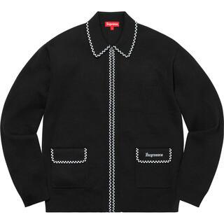 Supreme - Supreme Checkerboard Zip Up Sweater XL