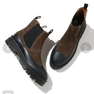 アダムエロぺ(Adam et Rope')のJVAM チャンキーチェルシーブーツ カーキ 38サイズ 新品(ブーツ)