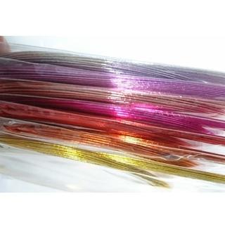 メタリックカラー 水引 7色セット金 銀入り 計210本 クリスマス 正月飾り(その他)