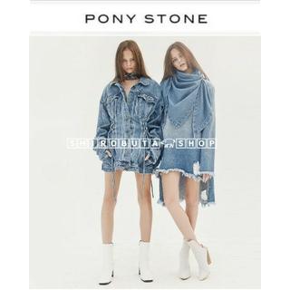 ジーヴィジーヴィ(G.V.G.V.)の♡ PONY STONE ワンピ 編み上げ ポニーストーン ponystone(Gジャン/デニムジャケット)