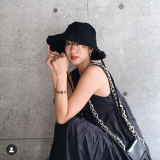 シールームリン(SeaRoomlynn)のシールームリン バケットハット 帽子 黒(ハット)