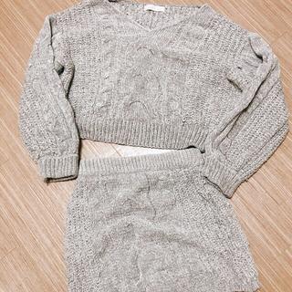 セシルマクビー(CECIL McBEE)のセシルマクビー ニットセットアップ スカート ニット(セット/コーデ)