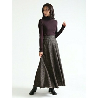 FRAY I.D - お値下げ ウールロングフレアスカート
