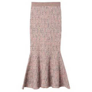 eimy istoire - ツイードニットマーメイドスカート