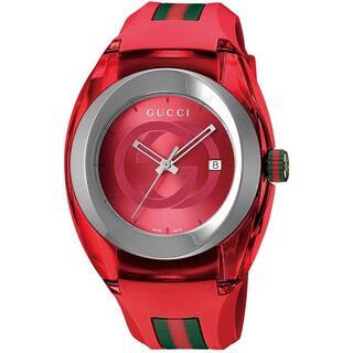 Gucci - GUCCI SYNC XXL YA137103 グッチ 腕時計 レッド クォーツ
