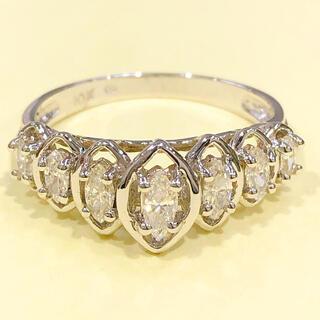 K10WG マーキスダイヤモンドリング