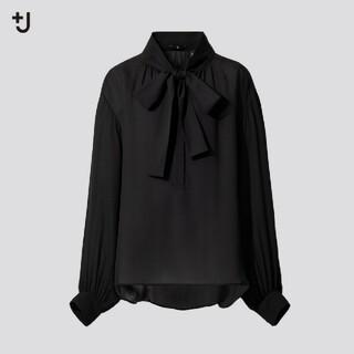 Jil Sander - ユニクロ J シルクブラウス XXL ブラック