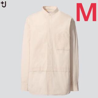 UNIQLO - +J プラスj ユニクロ スーピマコットンオーバーサイズシャツ ナチュラルM