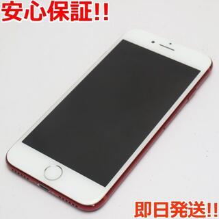アイフォーン(iPhone)の美品 au iPhone7 128GB レッド 白ロム(スマートフォン本体)