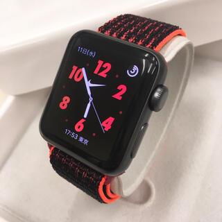 アップルウォッチ(Apple Watch)のApple Watch series2 ナイキ アップルウォッチ 38mm 黒(その他)