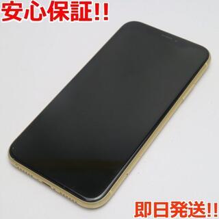 アイフォーン(iPhone)の美品 SIMフリー iPhoneXR 64GB イエロー 白ロム (スマートフォン本体)