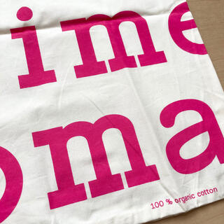 marimekko - マリメッコ ロゴ マリロゴ トートバッグ ピンク