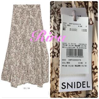 snidel - 完売色🌷新作新品🍀スナイデル プリントプリーツスカート