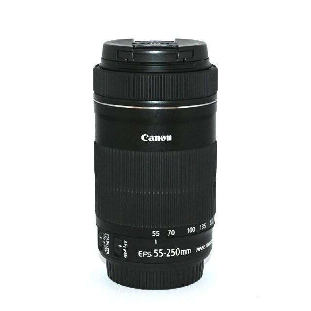 Canon(キヤノン)の【Canon】望遠レンズ♡EF-S 55-250mm f4.5-6 IS STM スマホ/家電/カメラのカメラ(レンズ(ズーム))の商品写真