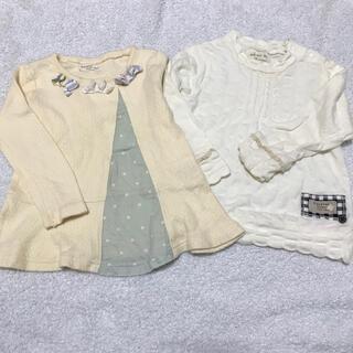 ビケット(Biquette)の女の子 幼稚園 保育園 洗い替え 綿100%  長袖 トップス まとめ売り(Tシャツ/カットソー)