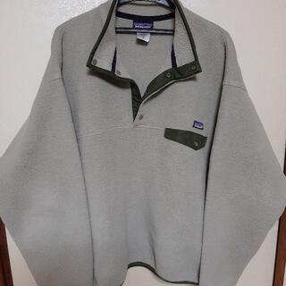 patagonia - パタゴニア スナップT シンチラ フリース グレー グリーン XLサイズ