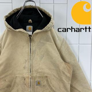 carhartt - Carhartt カーハート ダック生地 ジップパーカー 厚手 ダメージ USA