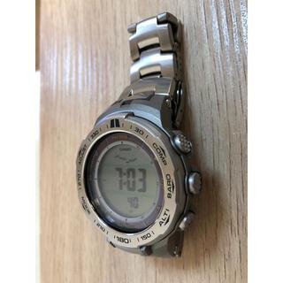 カシオ(CASIO)のカシオ プロトレック 電波ソーラー PRW-3100T-7JF チタンベルト(腕時計(デジタル))