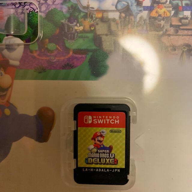 Nintendo Switch(ニンテンドースイッチ)のNew スーパーマリオブラザーズ U デラックス Switch マリオ DX エンタメ/ホビーのゲームソフト/ゲーム機本体(家庭用ゲームソフト)の商品写真