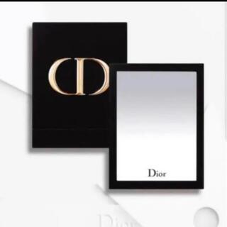 Dior - ディオール CDロゴ入りミラー ベロア 非売品 ノベルティ 新品 箱入り 鏡