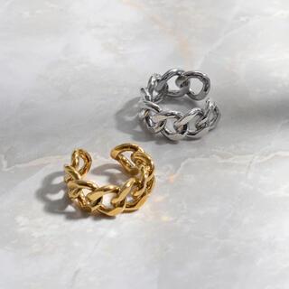 ローリーズファーム(LOWRYS FARM)のlock chain ring《gold》(リング(指輪))