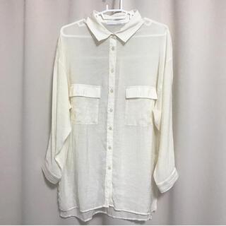 アントマリーズ(Aunt Marie's)の○ Aunt Marie's シアーシャツ シアー ブラウス トップス(シャツ/ブラウス(長袖/七分))