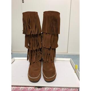 ラブガールズマーケット(LOVE GIRLS MARKET)のlovegirlsmarket☆フリンジブーツ☆ブーツ(ブーツ)