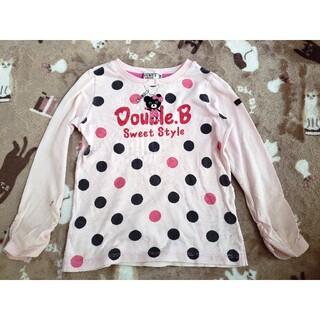 ダブルビー(DOUBLE.B)のMIKI HOUSE★DOUBLE.B★ダブルビー★ビー子ちゃん刺繍長袖シャツ★(Tシャツ/カットソー)