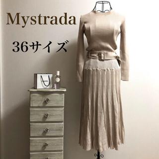 Mystrada - Mystrada★マイストラーダ★配色イレギュラーリブニットワンピース