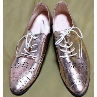 ジェリービーンズ(JELLY BEANS)のジェリービーンズパンチングシューズL新品タグ無24センチ(ローファー/革靴)