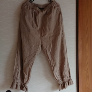 SM2 - サマンサモスモス 裾レースギャザーパンツ