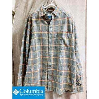 コロンビア(Columbia)のコロンビア.チェックネルシャツ.ブラウン.メンズS(シャツ)